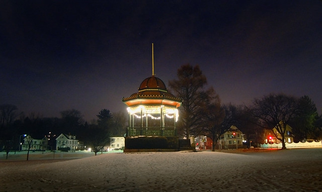 Wakefield Common at Christmas; Wakefield, MA (2006)