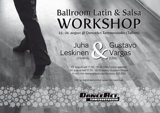 Ballroom Latin & Salsa Workshop 23.-24. august @ DanceAct / Juha Leskinen & Gustavo Vargas