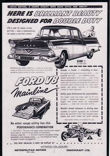 1958 Ford Mainline V8 Ute - Star Model Ad