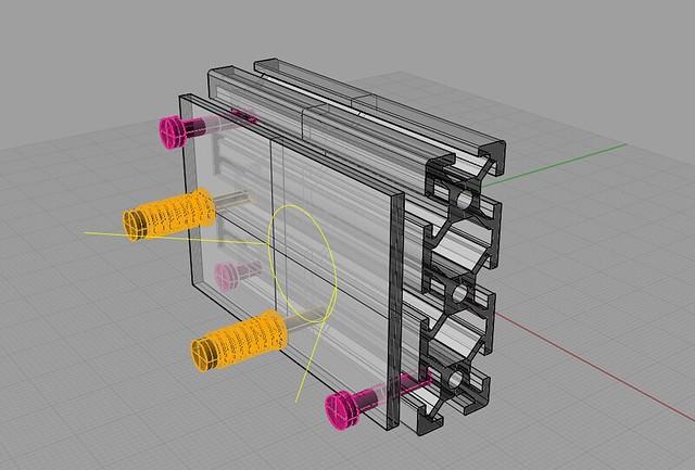 Lasersaur v0.1 mirror mount