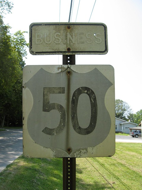 Business US 50 shield