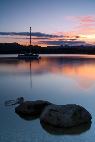 Sunset over lake windermere (explored)
