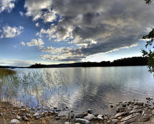 sunset panorama night canon finland rebel raw cloudy 24mm stitched hdr kuopio hugin kallavesilake