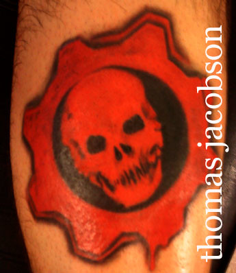 Gears of war done by thomas jacobson orlando florida for Gears of war logo tattoo