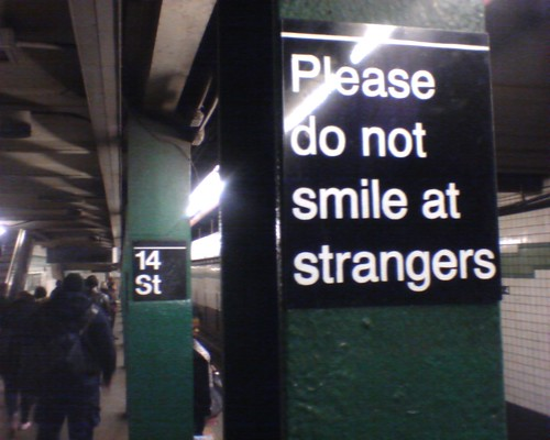 New York instructions, 14th St F train