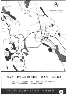 San Francisco Bay Area: Areas Subject to Future Residential and Industrial Development (1949)