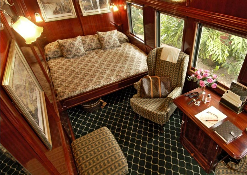 Interior Of A Bedroom On The Luxury Train Safari In