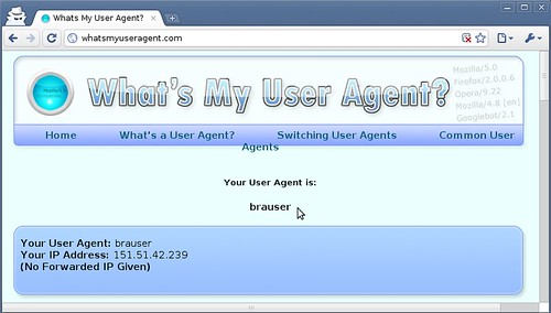 Nascondere lo user agent di Chrome