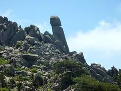 Sentier de montée Sud depuis Giannucciu : une vue insolite de l'Uomu di Cagna