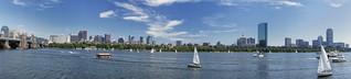 Boston Skyline, SONY NEX-5 Panorama Mode