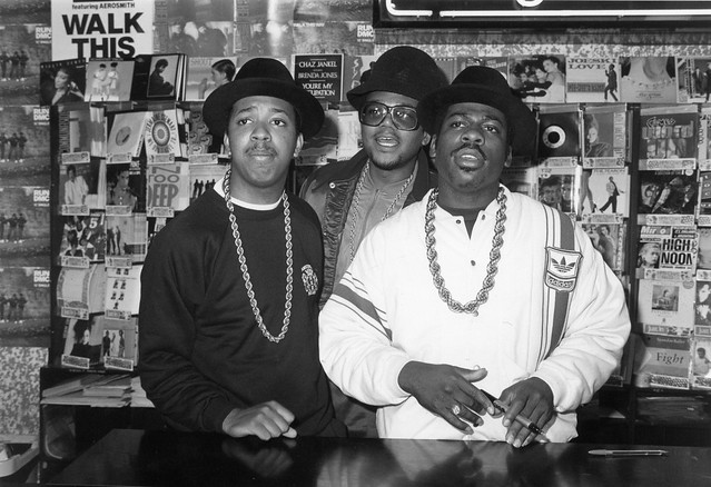 RUN DMC @ 363 Oxford Street, London, September 1986