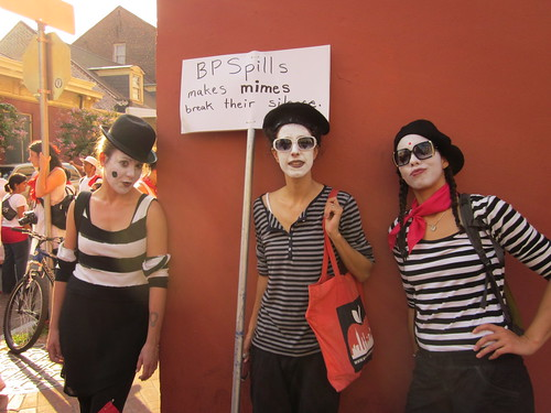 BP Spills Makes Mimes Break Silence