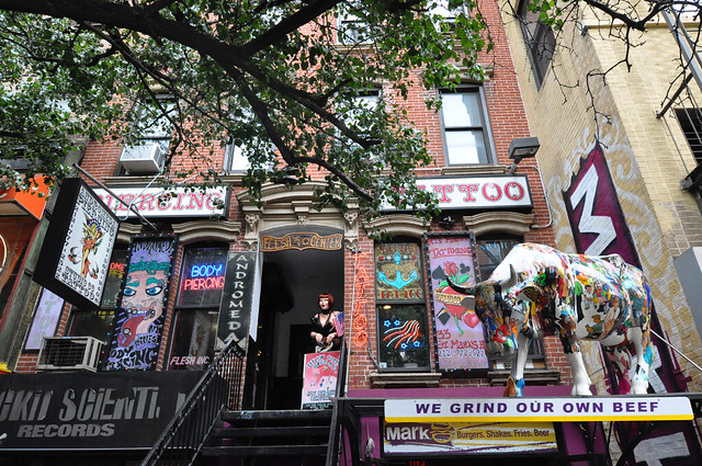 Tattoo Parlors and other Shops along St. Marks Pl Manhattan