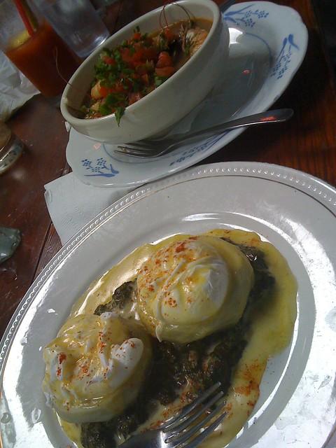 Eggs Sardou, Shrimp and Grits @ EAT   Flickr - Photo Sharing!