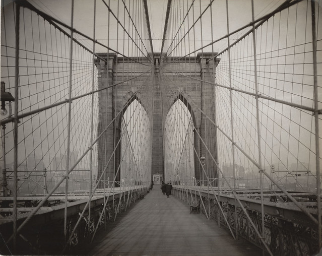 Brooklyn Bridge, New York, 19th century, unknown photographer