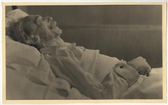 Paul Valéry on his deathbed, by Laure Albin-Guillot 1945
