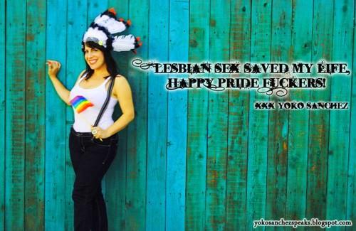 Yoko Sanchez-Gay Pride.
