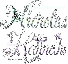 Girly fonts lettering by denise a wells flickr for Girly font tattoo