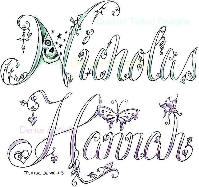 Cool Name Tattoo Designs
