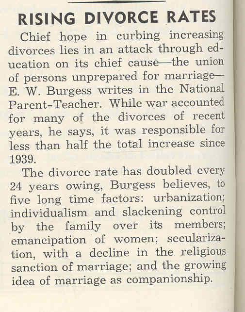 Rising divorce rates