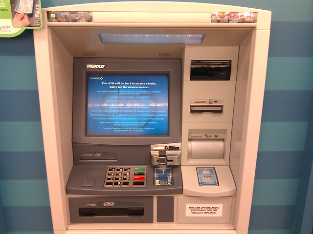 Chase Atm Out Of Service Card Reader Flashing Yellow
