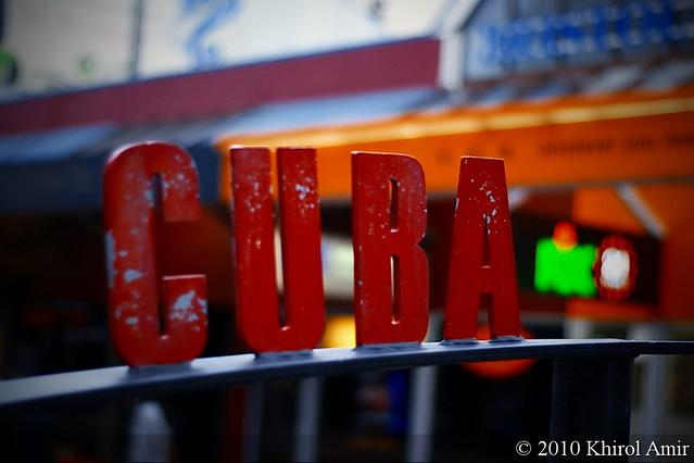 Cuba Street Sign by flickr user khirol