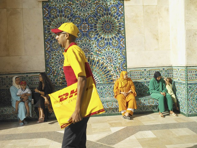 DHL courier in Marocco