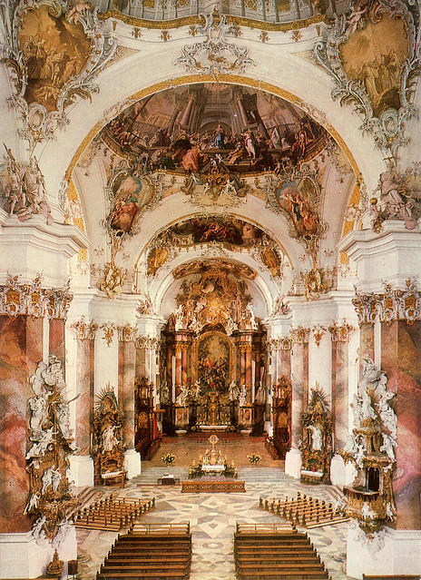 Basilica Of Ottobeuren Baroque Interior