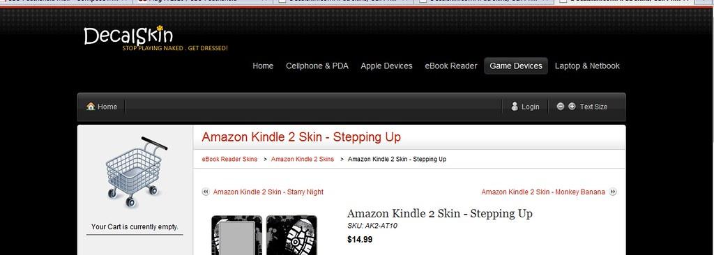 Amazon Kindle 2 skins, Aspire One skins, Asus Eee PC skins