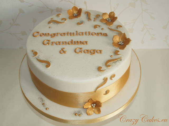 Golden Wedding Cake The request was for a 50th Anniversary cake