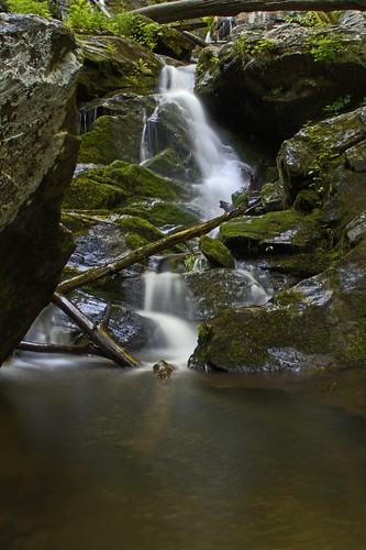 longexposure nature pool waterfall nc moss rocks logs northcarolina limbs cascade hdr naturephotography catawbafalls waterfallphotography davidhopkinsphotography