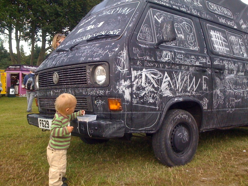 Starting em young Max and Chalkyvan @ vintage