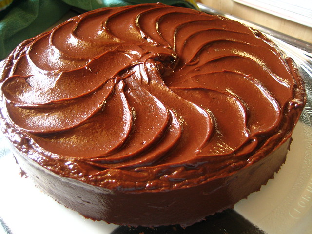 Chocolate Layer Cake with Caramel Ganache | Flickr - Photo Sharing!