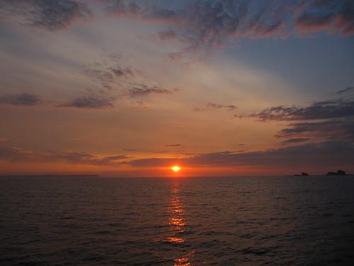 sunrise, Akiyuri island