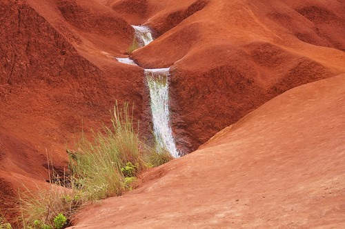 waterfall in Waimea canyon Kauai island