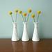vintage milk glass bud vases with craspedia by laxtoyvr