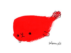 red whale.
