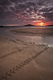 Sunset over Burgh Island