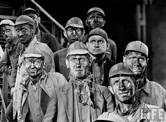 Miners in Gelsenkirchen, Germany, by Margaret Bourke-White 1945