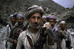 Pashtun fighters, Afghanistan, 1988, by Steve McCurry