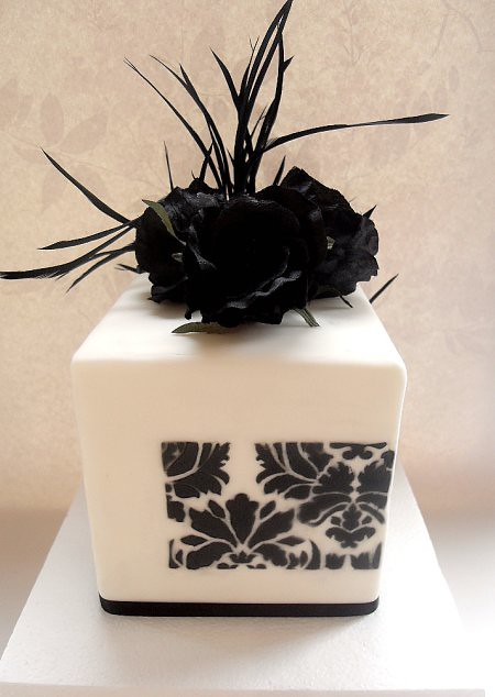 Black White Cube Wedding Cake Playing with some contrast concept