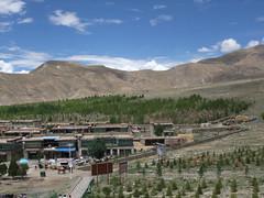 Vue sur le village de Yongbulakang