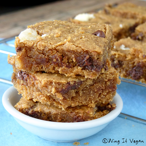 Almond Butter Blondies - Fudgy Fudge