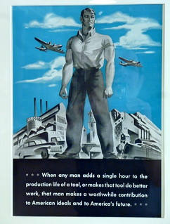 Morale poster at machine tool factory