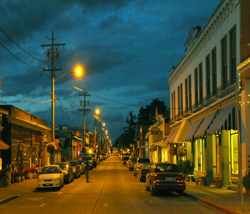 street washington peaceful calm nighttime laconner