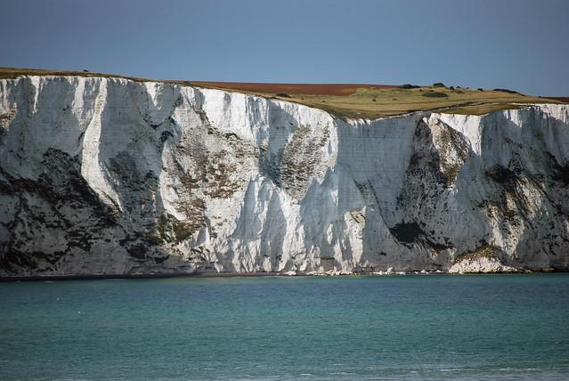 Los acantilados blancos de Dover, Inglaterra, Gran Bretaña