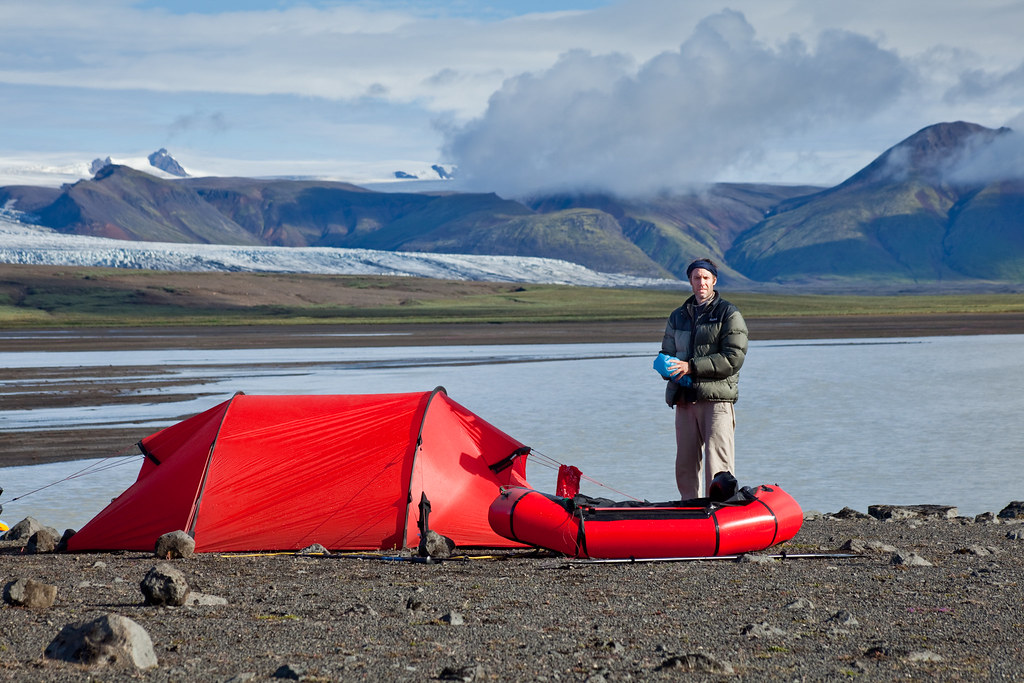 Tent and packraft