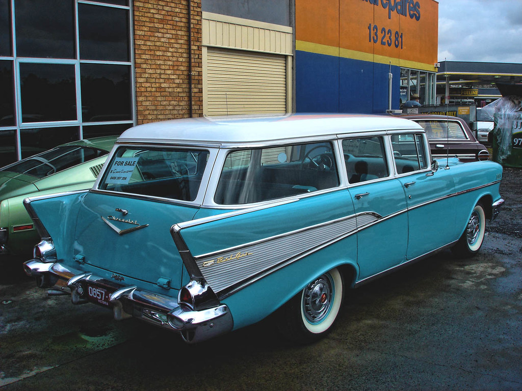 1957 Chevrolet 210 Station Wagon - a photo on Flickriver