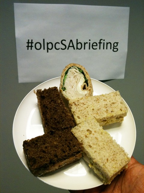 Nice that the World Bank catered in some food! #olpcSAbriefing