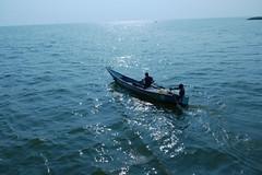 Fischerboot auf dem Kazinga-Kanal